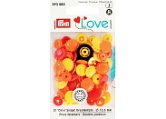 "Кнопки Prym Love 393080  ""Color Snaps"" цветок d13,6 (21шт.)"